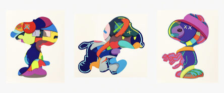 KAWS, 'No One's Home; Stay Steady; The Things That Comfort (Set of 3)', 2015