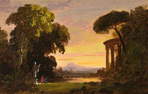 Jasper Francis Cropsey, 'Ruins with Figures', Late 19th century