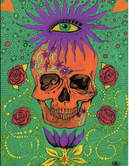 Chloe Trujillo, 'Skull Print (Orange)', 2016