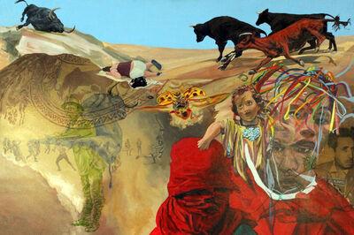 John Valadez, 'Bull Slipt', 2013