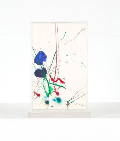 """Sam Francis, '""""Yea"""" (Text by the poet Cid Corman)', 1989"""