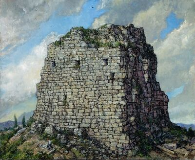 Chester Arnold, 'Empire's End (Study for The Stonebreaker)', 2016