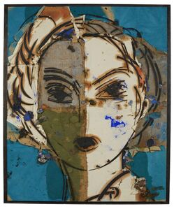 Manolo Valdés, 'Dorothy (retrato sobre fondo azul)', 2004
