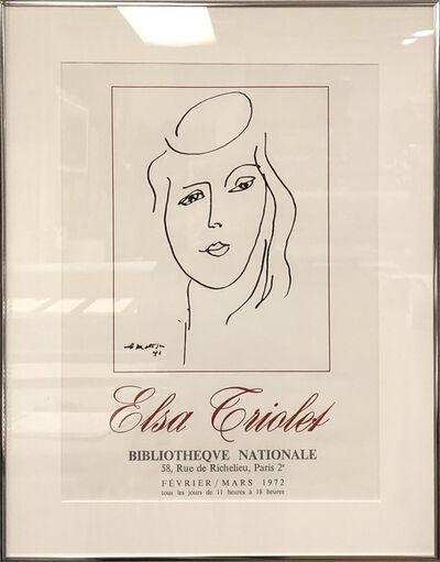 Henri Matisse, 'Elsa Triolet', 1972