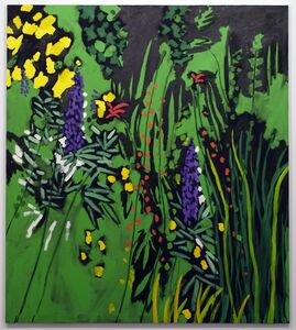 Bruce McLean, 'Unknown Orange Flower Against Green', 2008