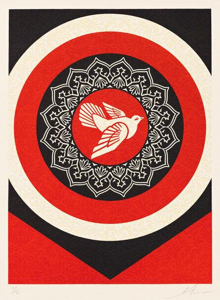 Shepard Fairey, 'Dove Target Red', 2012