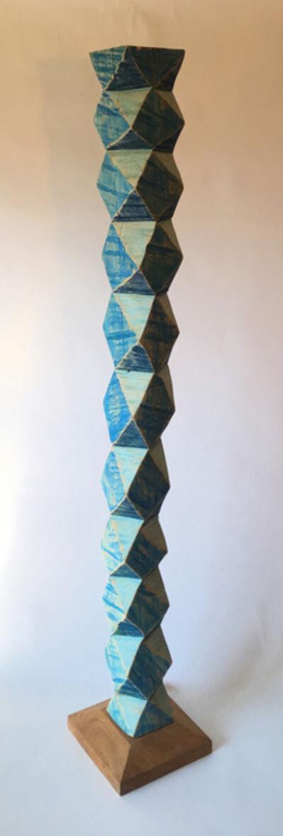 Clark Derbes, 'Blue Column', 2018-2019