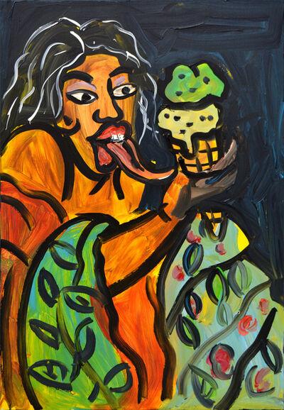 Jeffrey Spencer Hargrave, 'Afro Geisha with Ice Cream', 2018