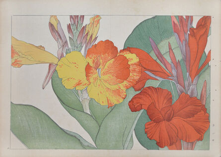 Unknown, 'Orange and Yellow Canna', ca. 1917
