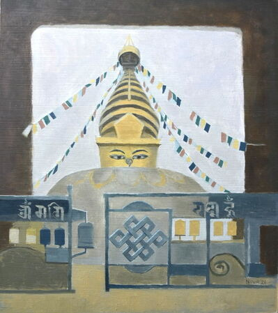 Niva Shrestha, 'Prayer Wheels at Swayambhu', 2021