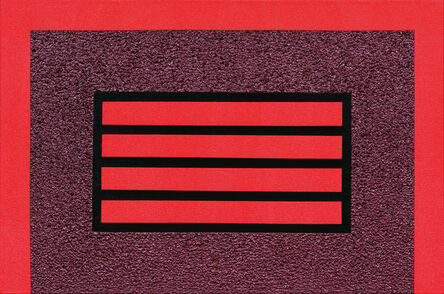Peter Halley, 'Red Horizontal Prison', 2004