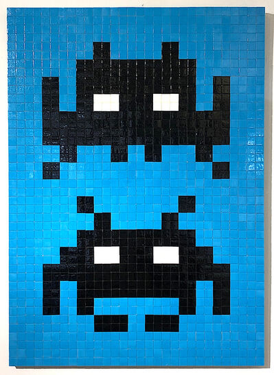 """Invader, '""""BLACK AND BLUE DUO"""" ', 2004"""