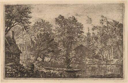 Allart van Everdingen, 'Skiff at a River Bank', probably c. 1645/1656