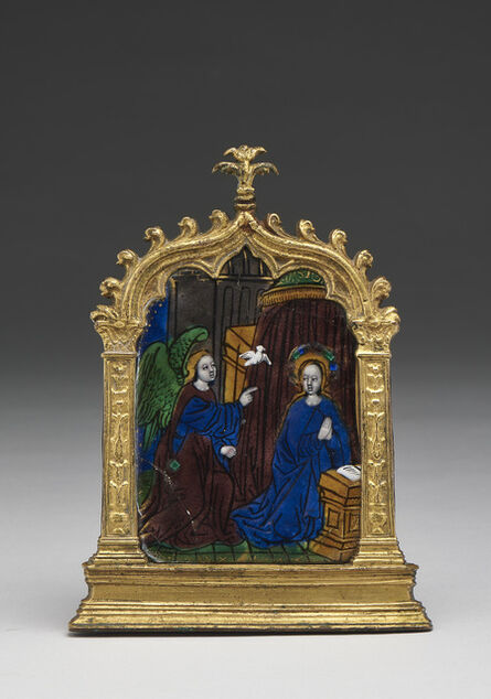 Master of the Louis XII Triptych, 'Pax with Annunciation', Limoges-early 16th century