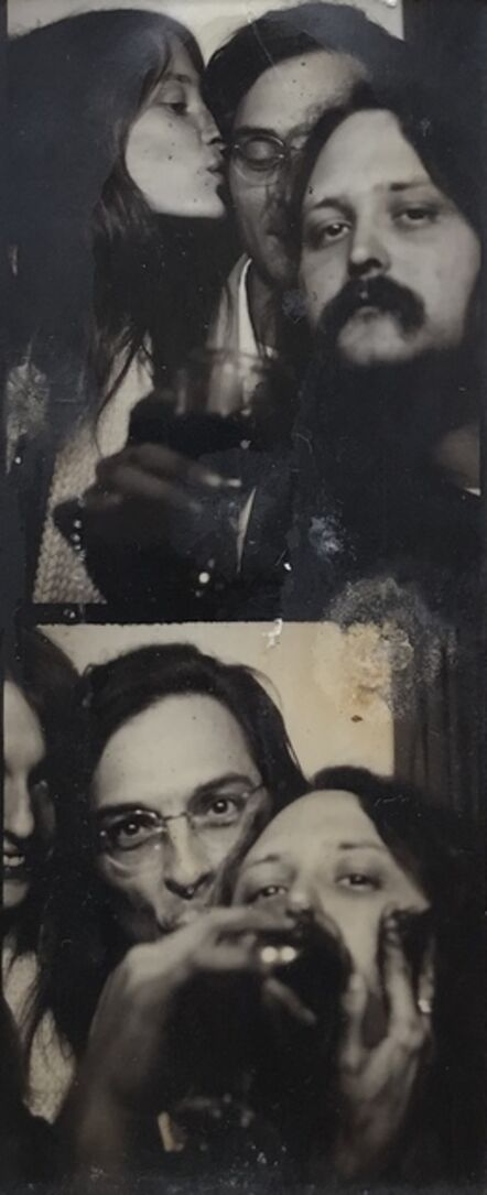 William Eggleston, 'Double Self-Portrait with Marcia & Randall Drinking in a Photo Booth', 1974