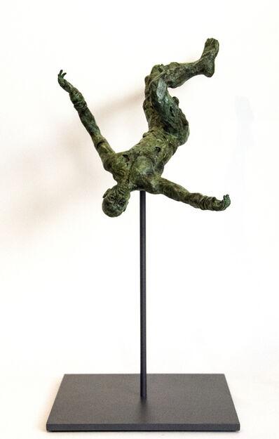 Sylvain Louis Seize, 'Equilibrium No 1 - small, lively, figurative, male, bronze, sculpture series', 2017