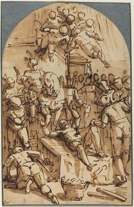 Luca Cambiaso, 'The Martyrdom of Saint Lawrence'