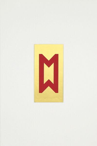 Vera Molnar, 'Icône aux lettres M b', 1962