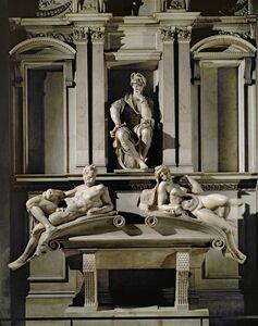 Michelangelo Buonarroti, 'Tomb of Lorenzo de Medici, Duke of Urbino, with Dawn and Evening', ca. 1525