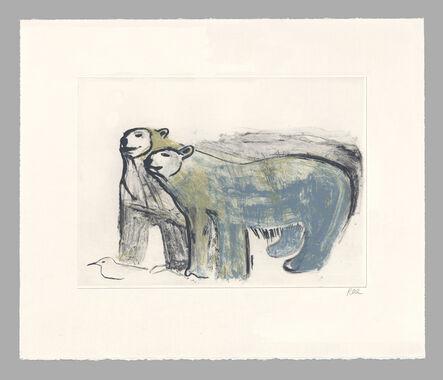 Barbara Rae, 'Bears, Coningham Bay', 2019