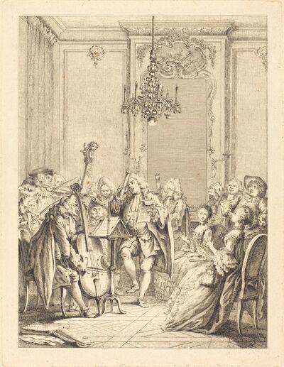 Jean Claude Richard de Saint-Non after Hubert François Gravelot, 'Le concert'