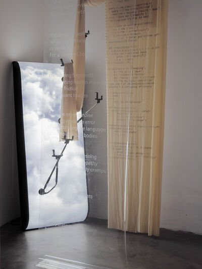 Marie-Eve Levasseur, 'between bodies and clouds (my desired incomputable algorithm and the predictable operator)', 2018