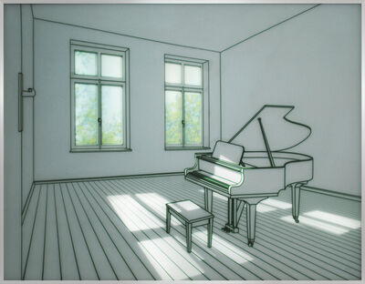 Sun-tae Hwang, 'Piano in a room', 2015
