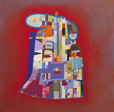 Julie Langsam, 'Le Corbusier Floor Plan: Ronchamp Chapel, Red', 2015