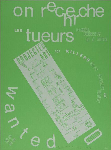 Henri Chopin, 'on recherche les tueurs', 1967