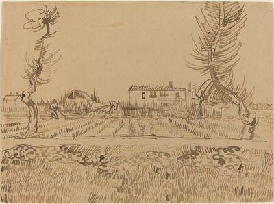 Vincent van Gogh, 'Ploughman in the Fields near Arles', 1888