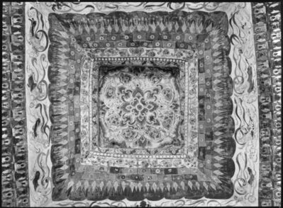 James and Lucy Lo, 'Ceiling, Mogao Cave 387, dated High Tang dynasty (705– 780). Dunhuang, Gansu province. The Lo Archive', Photograph taken in 1943-44