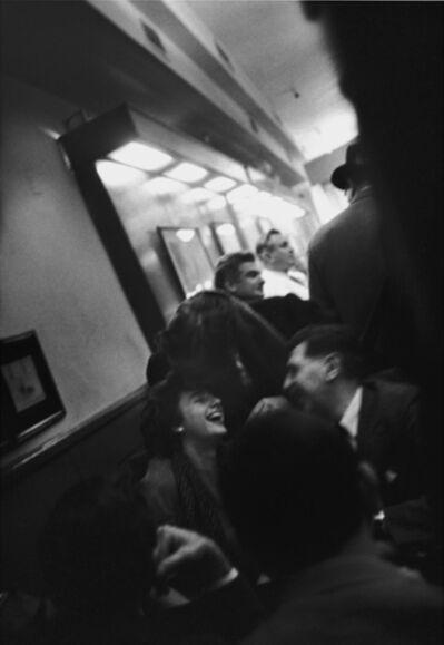 John Cohen, 'Grace Hartigan, Aristodimos Kaldis and George Spaventa in the Cedar Tavern', 1959