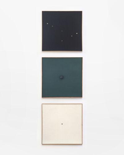 Herbert Oehm, 'Schwarzes Bild mit kleinen Lochern, Monochrome Relation, Weisse Bild Mit Kleinem Loch', 1958-1959