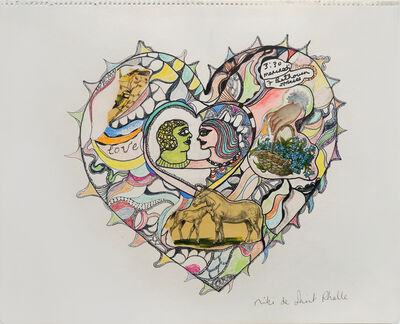 Niki de Saint Phalle, 'Collage - Love', 2001