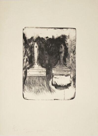 Jim Dine, 'Brushes Drawn on Stone #5', 2010