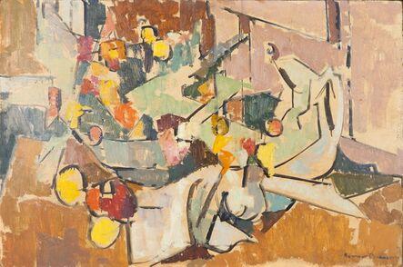 Herbert Barnett, 'Abstract Still Life with Pitcher, Bowl of Flowers, Creamer'