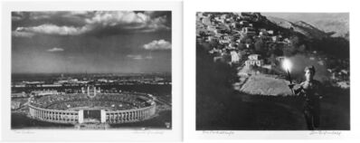 Leni Riefenstahl, 'Diptych: Dar Stadion (Stadium) and  Der Fackel laeufer', 1936
