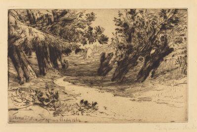 Francis Seymour Haden, 'The Lovers' Walk, No.2', 1864