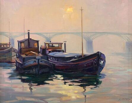 Leonard Mizerek, 'Fog Lifting on the Seine', 2019