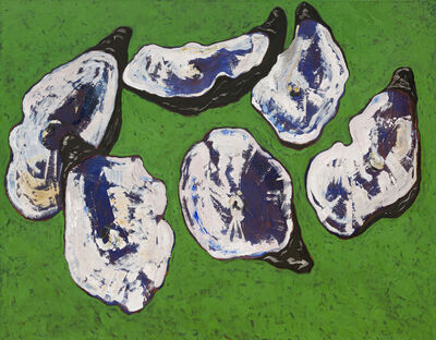Guy de Malherbe, 'Reliefs, restes d'un dîner d'huitres', 2019
