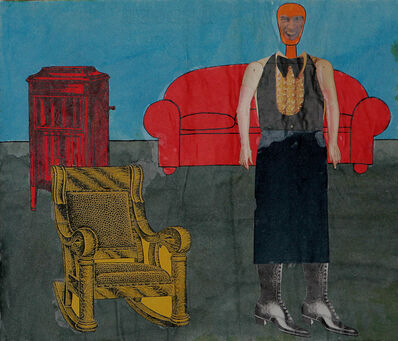 Larry Lewis, 'Untitled (Red Couch)', ca. 1970