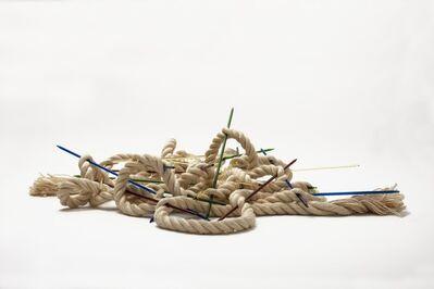 """Frida Baranek, '""""Mudança de jogo com corda de sisal""""', 2014"""
