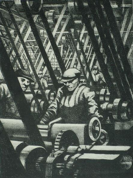 Christopher Richard Wynne Nevinson, 'Making the Engine', 1919