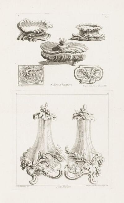 Juste-Aurèle Meissonnier, 'Sallieres et Tabatières (Salt Dishes and Snuff Boxes)', 1740