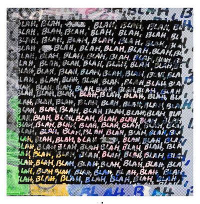 Mel Bochner, 'Blah, Blah, Blah + Background Noise, 2013', 2013