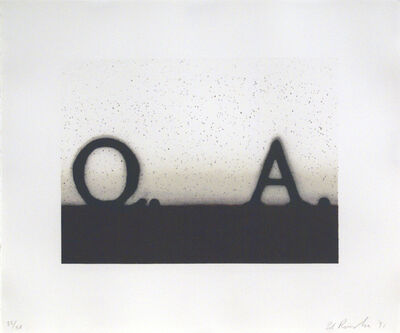 Ed Ruscha, 'Question & Answer', 1991