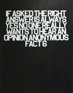 Thomas Stevenson, 'Fact 6 (18 Anonymous Facts)', 2016