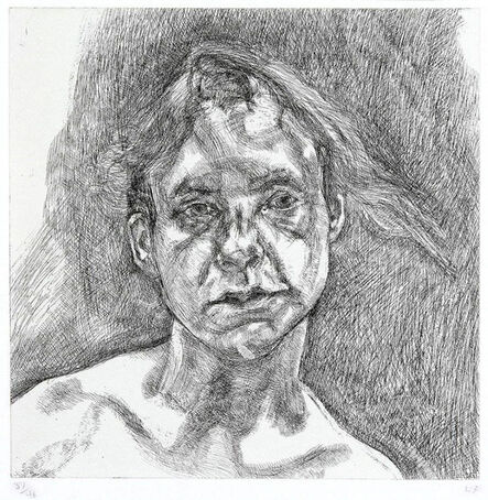 Lucian Freud, 'Head of a naked girl', 2000