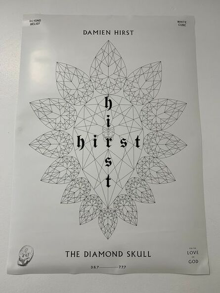 Damien Hirst, 'DAMIEN HIRST, FOR THE LOVE OF GOD: THE DIAMOND SKULL, WHITE CUBE, BEYOND BELIEF SKULL DRAWING', 2007