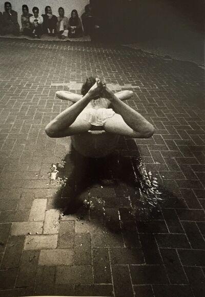 Trisha Brown, ''Skunk Cabbage, Salt Grass and Waders', part of 'Danza Volo Musica Dinamite', L'Attico, Rome. Photograph by Claudio Abate', 1969